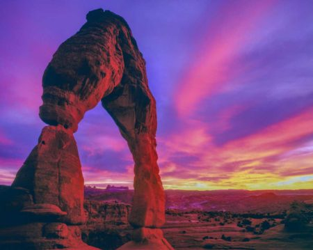 Arches National Park, Delicate arch sunset by Tom Till Photography