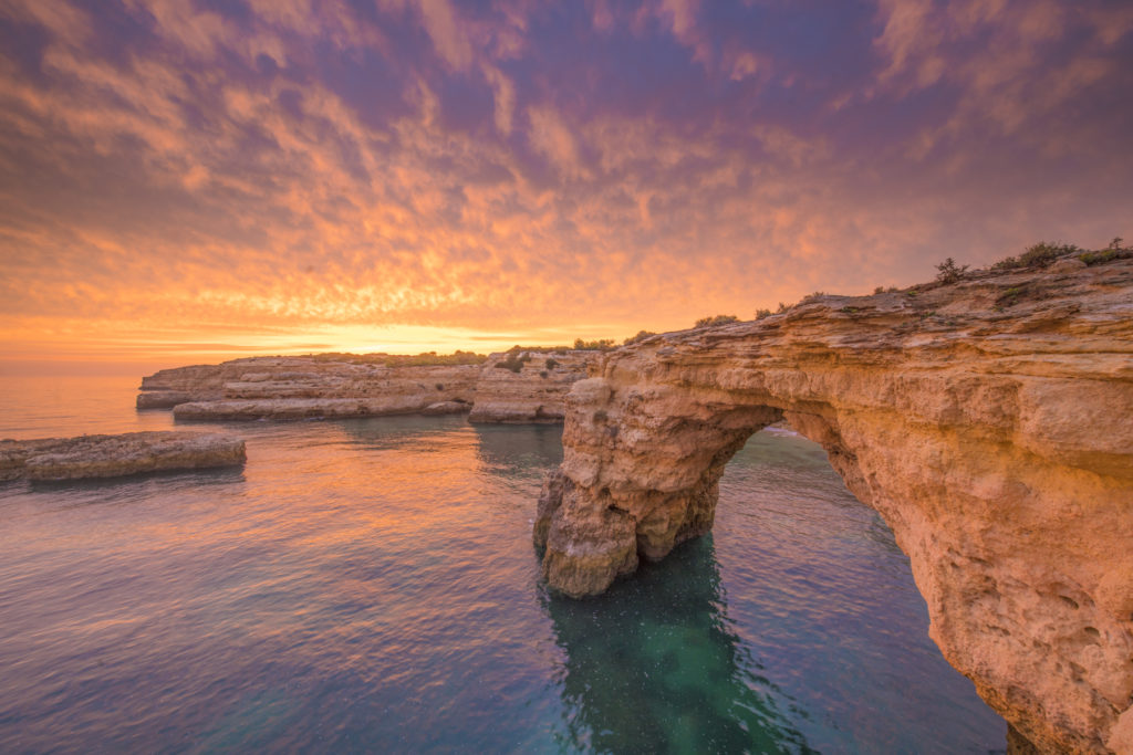 Sea Arch at Sunrise, Portugal