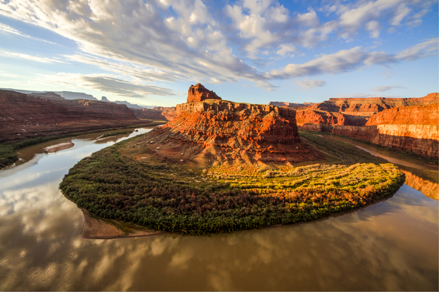 TColorado River at the Gooseneck, Canyonlands National Park by Tom Till