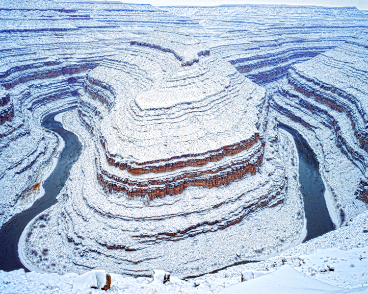 San Juan River Gooseneck in Winter, Photographed by Tom Till