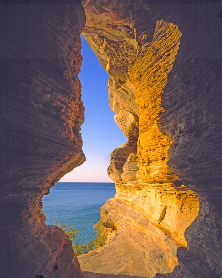 Sandstone Arch, Pictured Rocks National Lakeshore Photographed by Tom Till