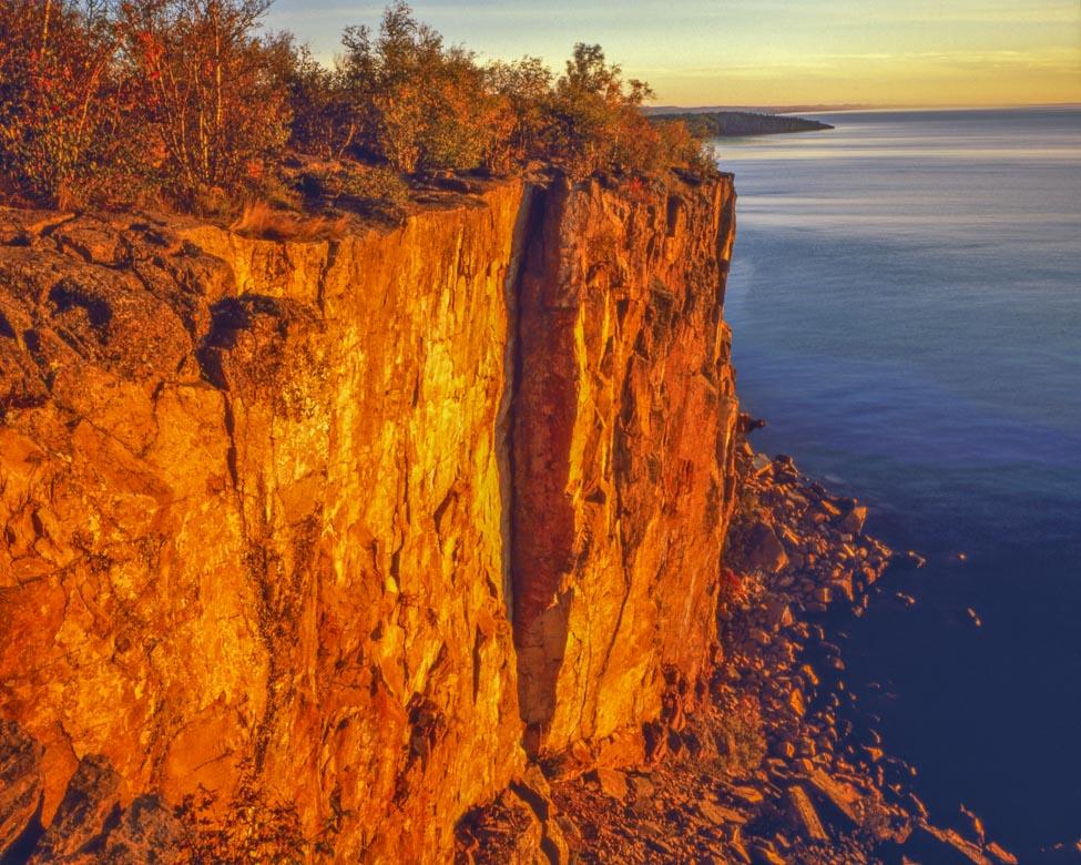 Palisades at Dawn, Lake Superior, North Shore Photographed by Tom Till