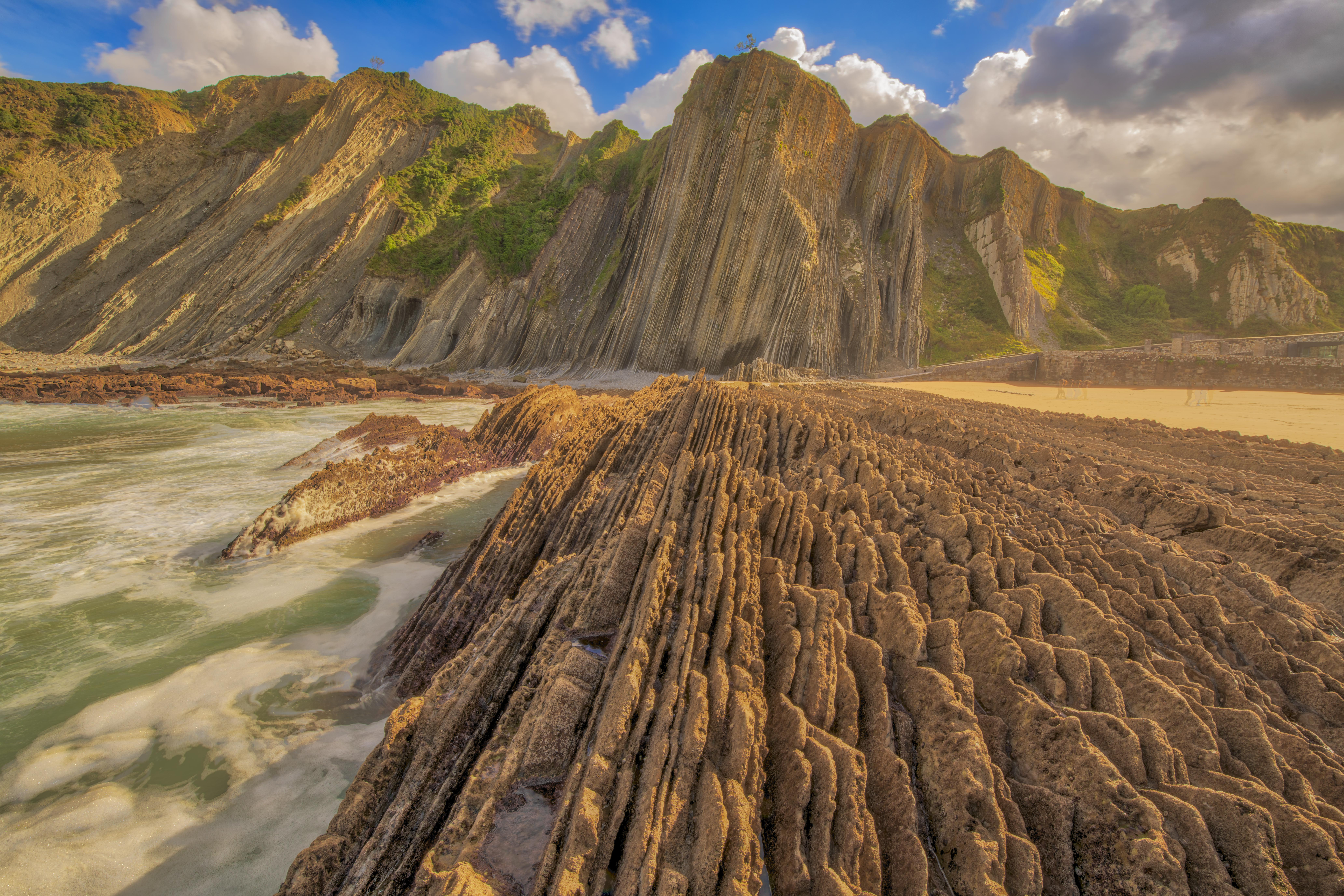 Flysch formations, Zumaia Beach, Spain, Photographed by Tom Till