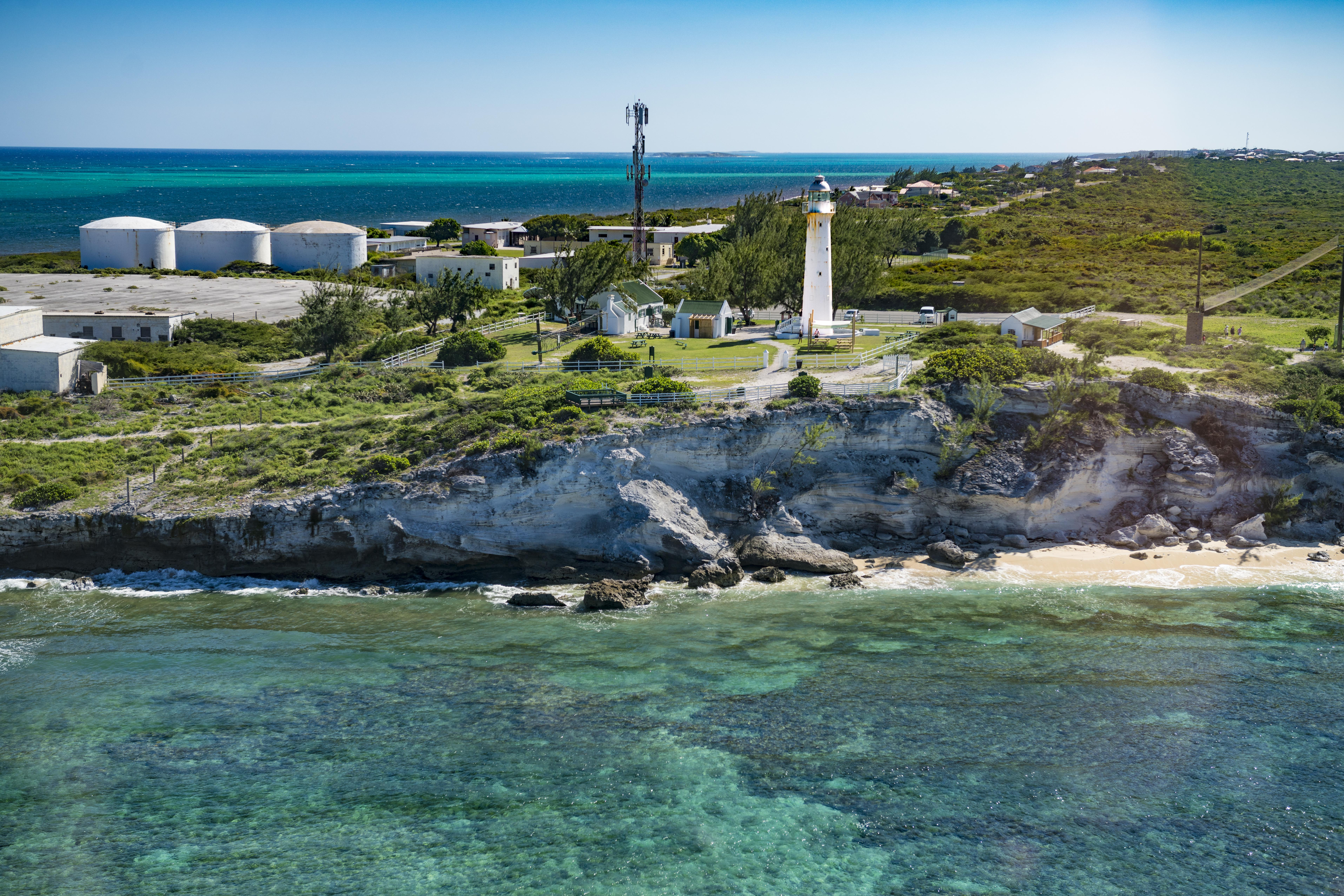 Grand Turk Island lighthouse and reef, Turks and Caicos Islands photographed by Tom Till