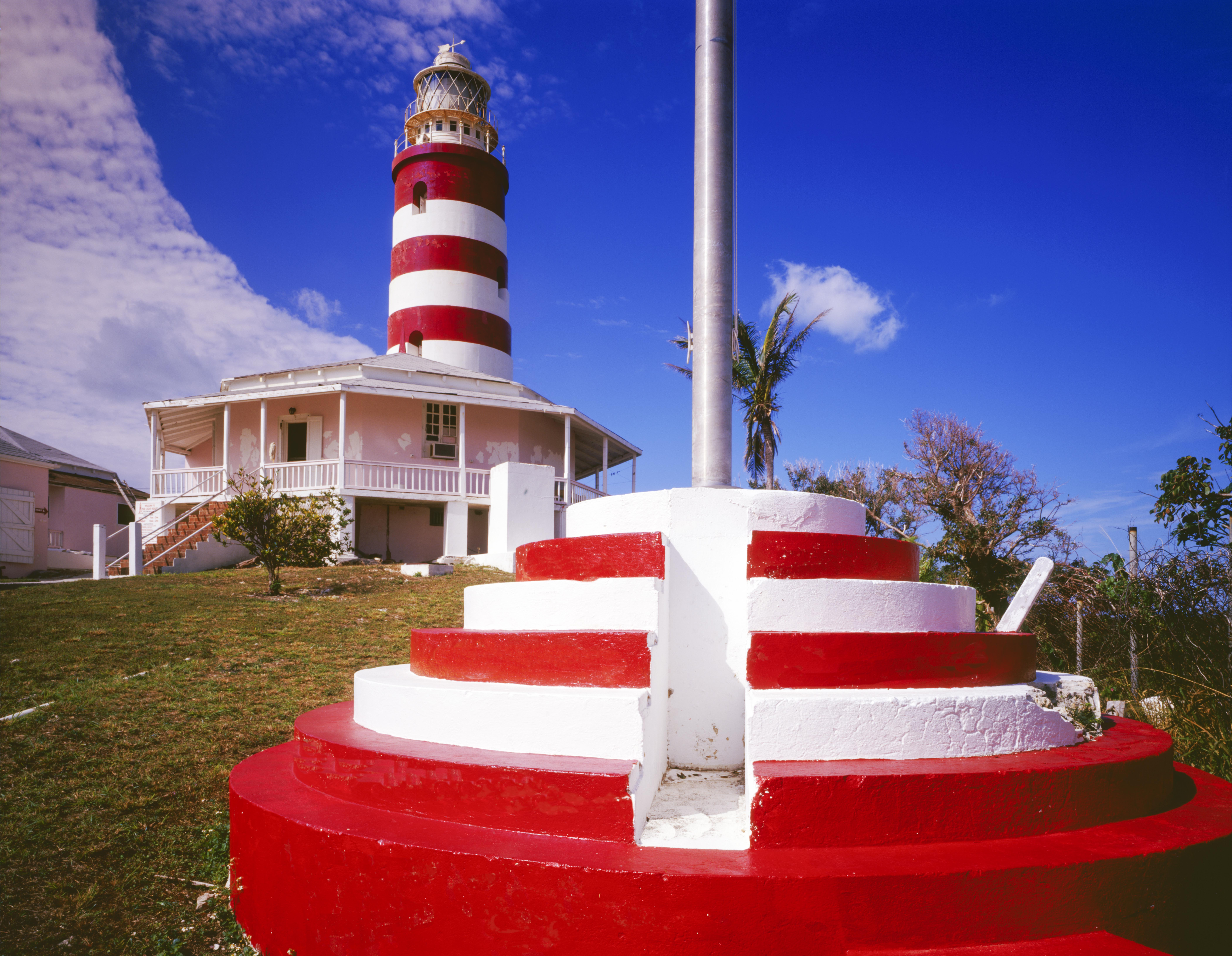 Elbow Cay Reef Lighthouse, Hopetown, Bahamas photographed by Tom Till