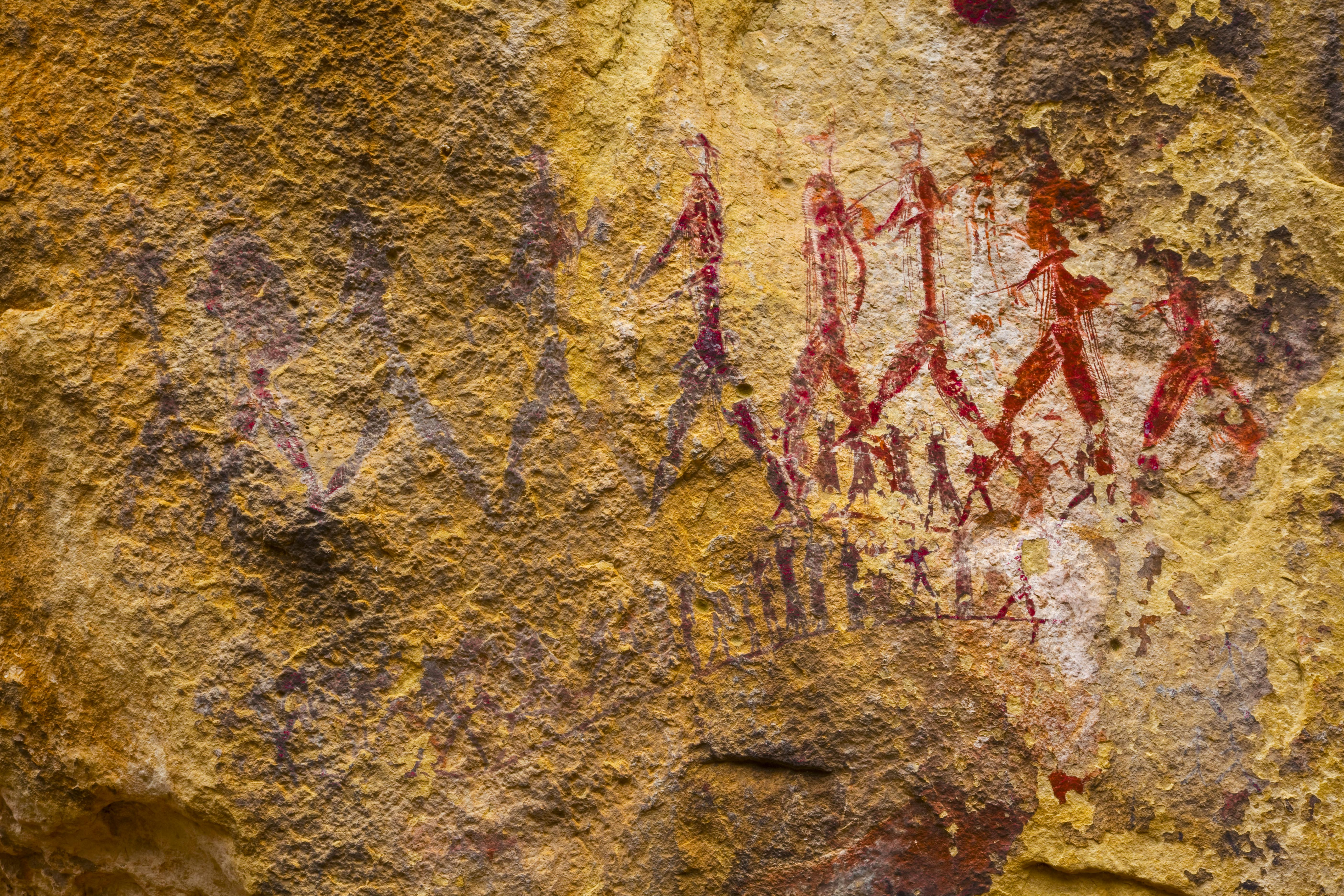 San Rock art in  Drakensberg Mountains Photographed by Tom Till