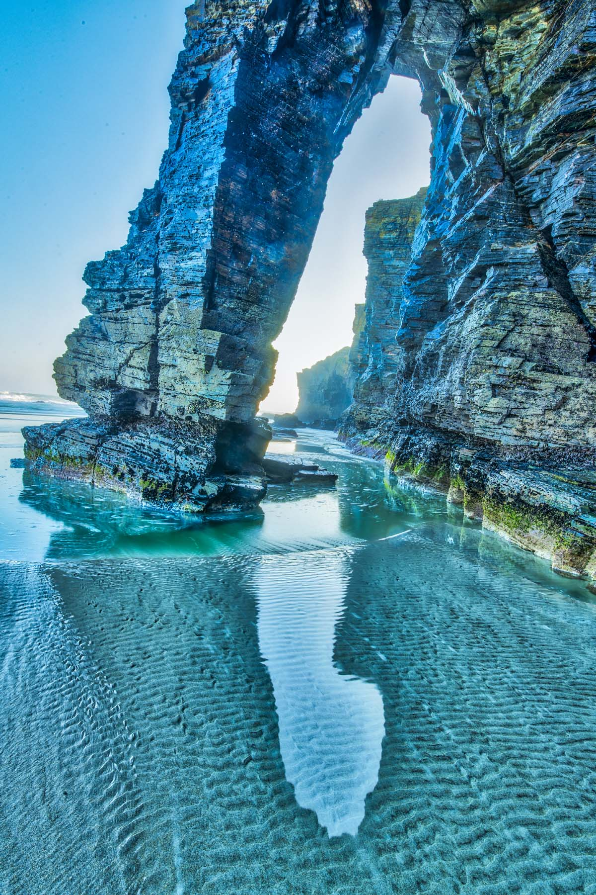 Sea Arch at dawn, Spain photographed by Tom Till
