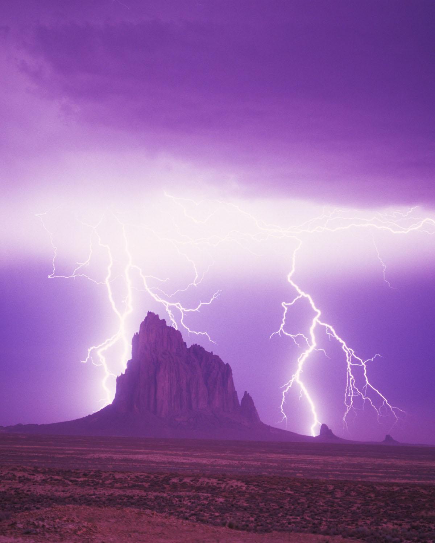 Ship Rock, Lightning Storm, New Mexico, Dineh, Tom Till