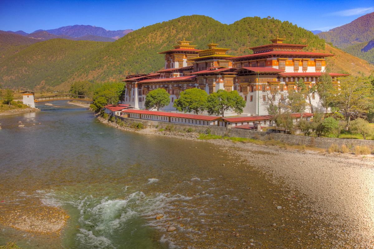 Punakha Dzong Monastery, Bhutan photographed by Tom Till