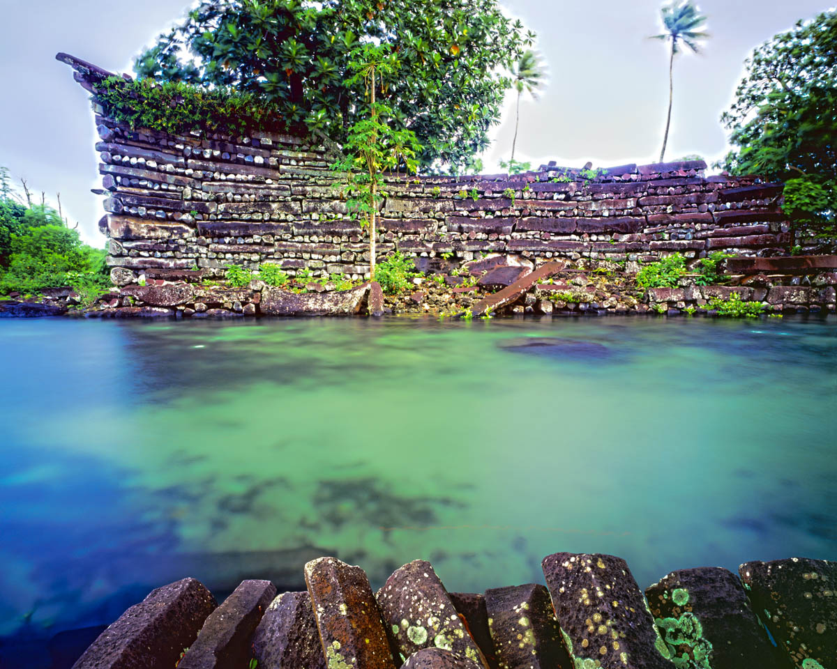 Nan Madol, Ruins, Pohnpei Island, Micronesia photographed by Tom Till