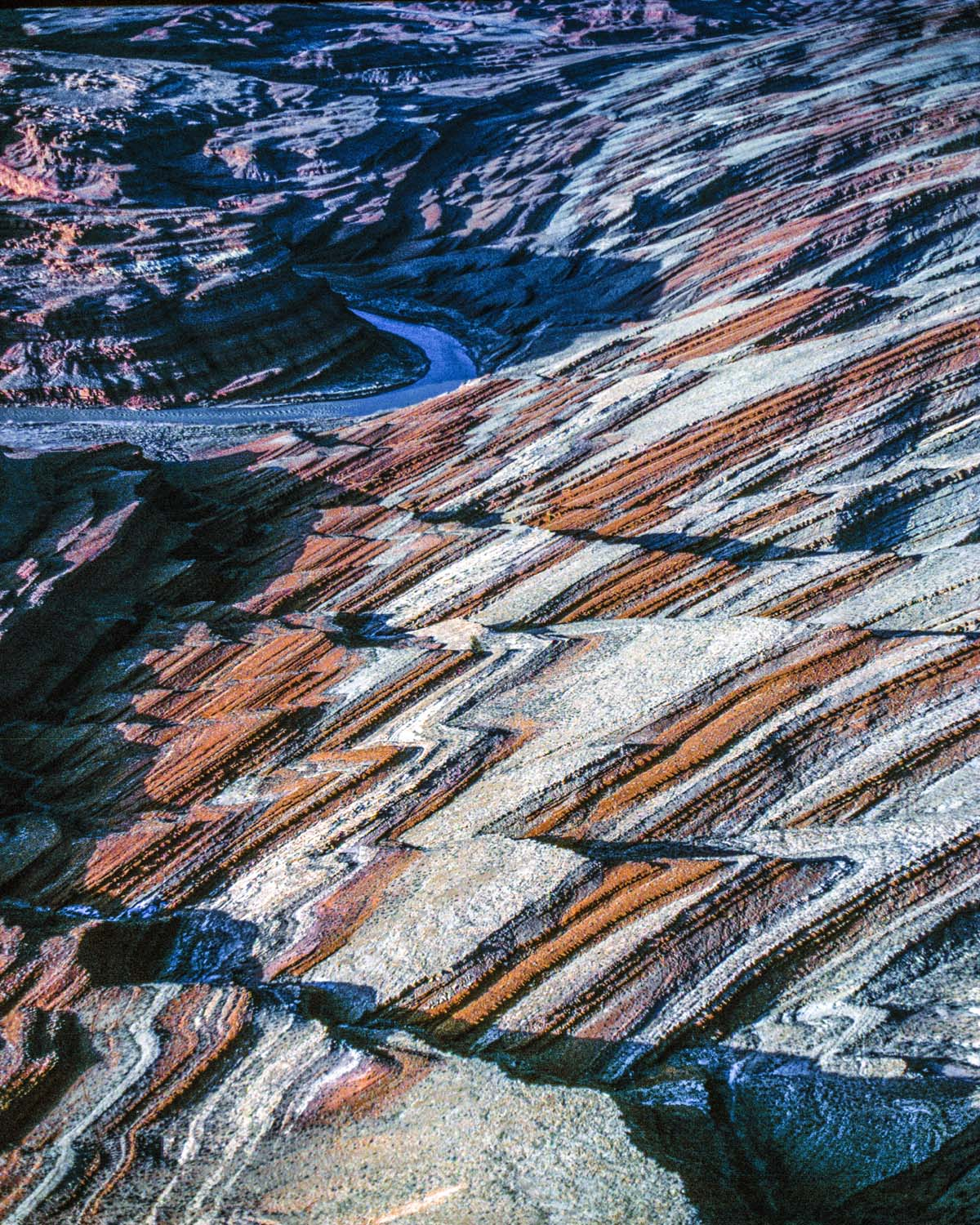 Raplee anticline San Juan river, Utah Sunset photographed by Tom Till