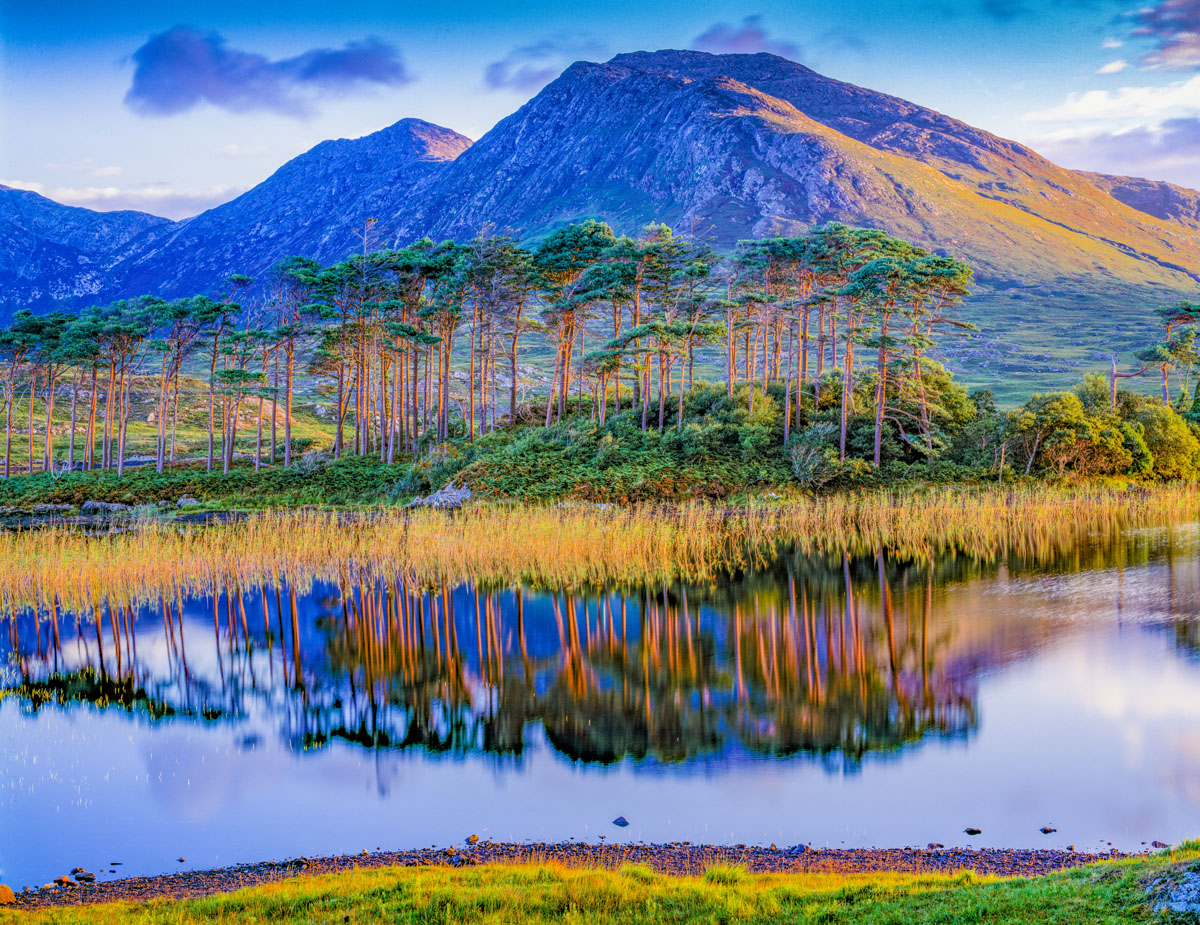 Sunrise on Lakes Near Cliffden, Republic of Ireland photographed by Tom Till