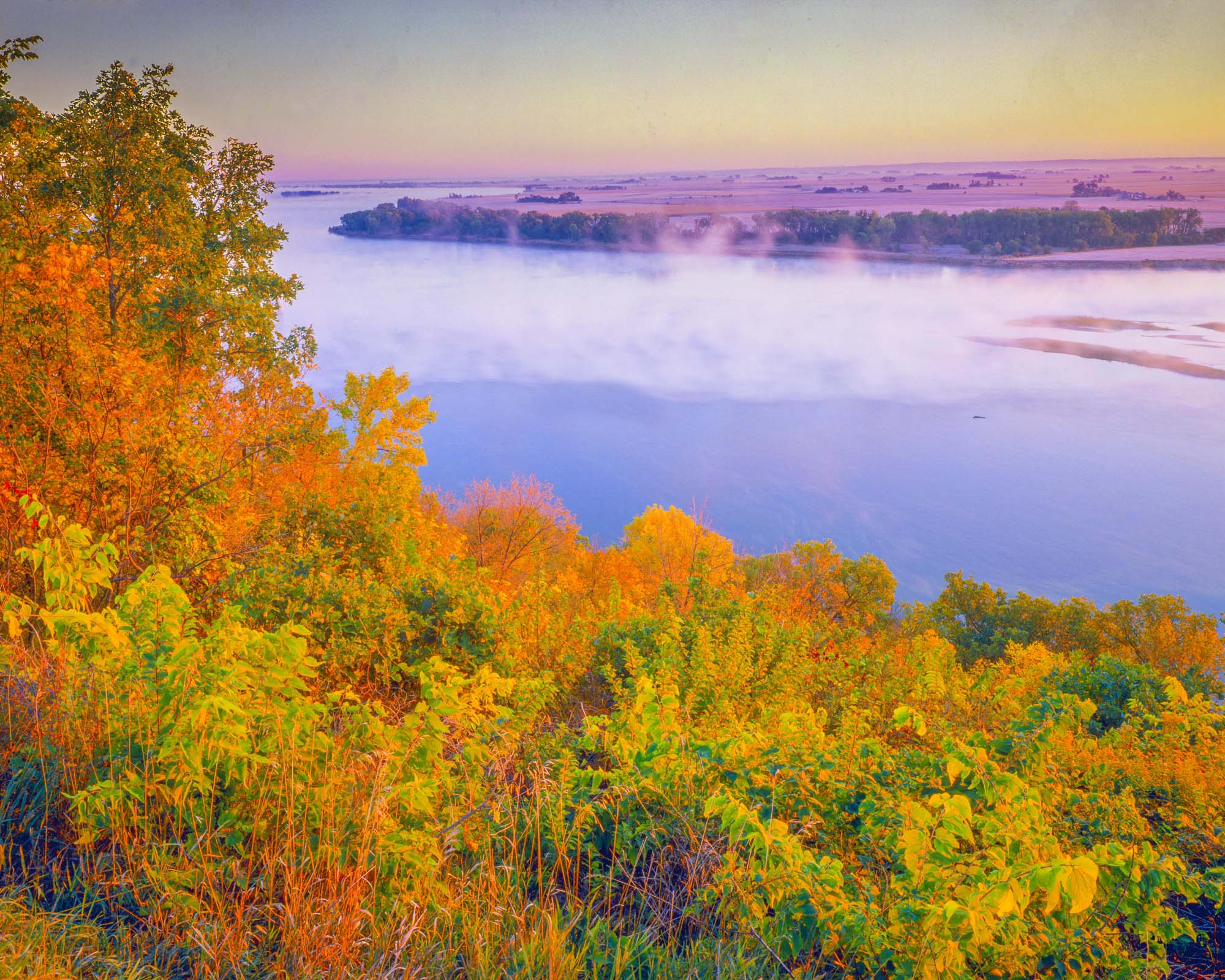 Iowa, South Dakota, Missouri River from the Overlook at Ponca State Park photographed by Tom Till