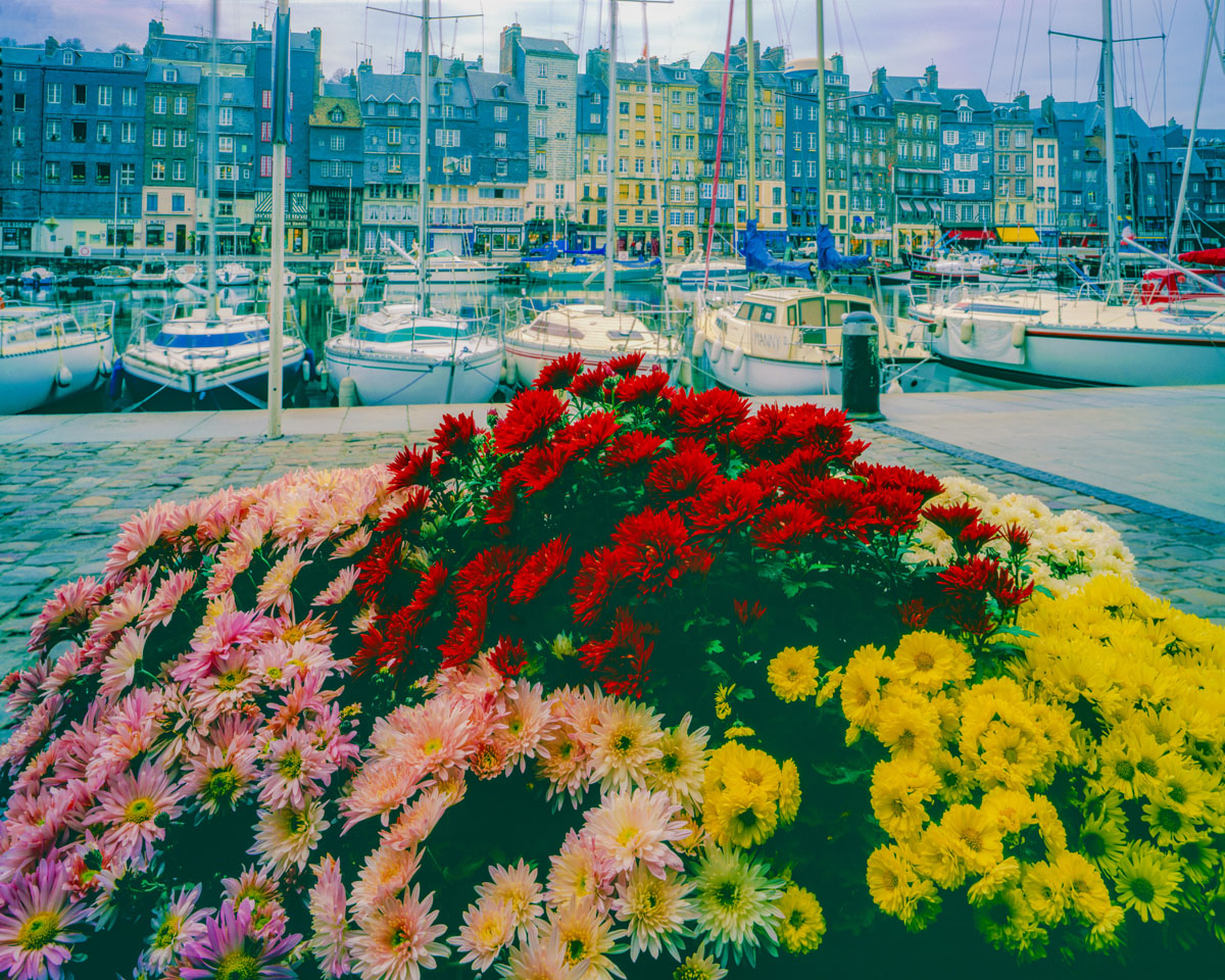 Honfleur Harbor, Normandy, France photographed by Tom Till