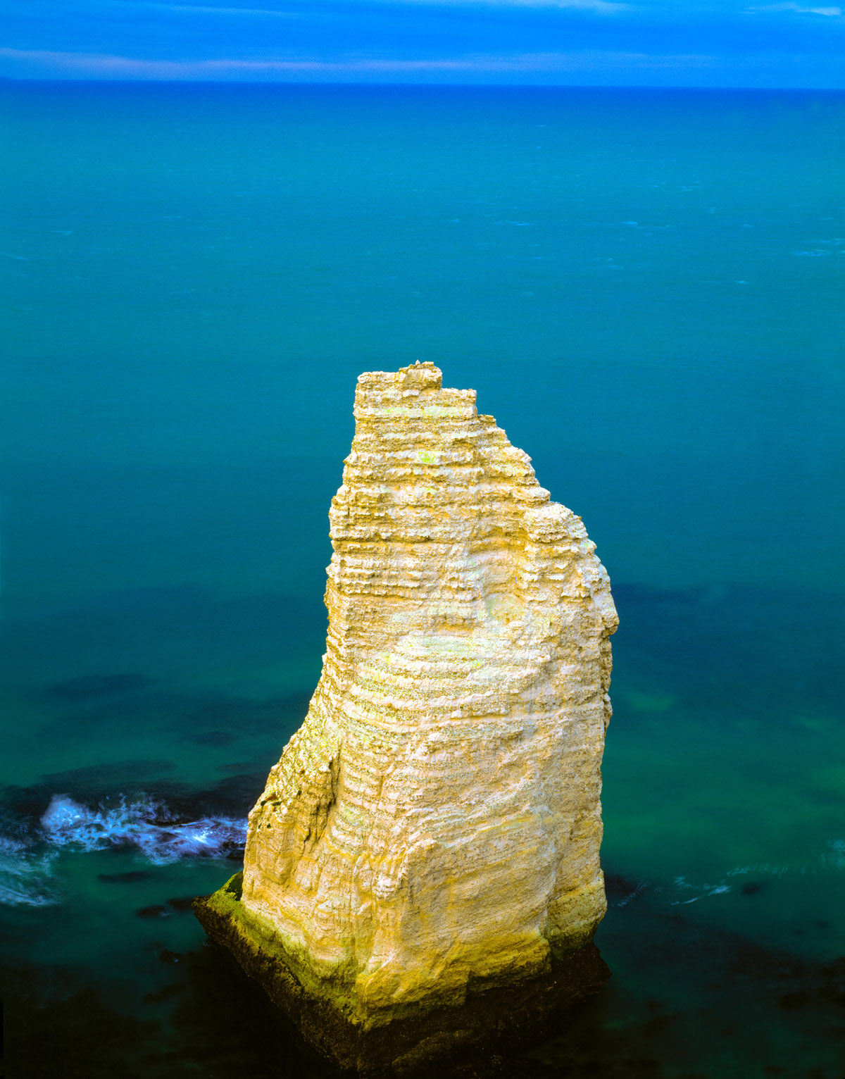 Seastack,  Normandy Cliffs, White Cliffs, Etretat, France photographed by Tom Till