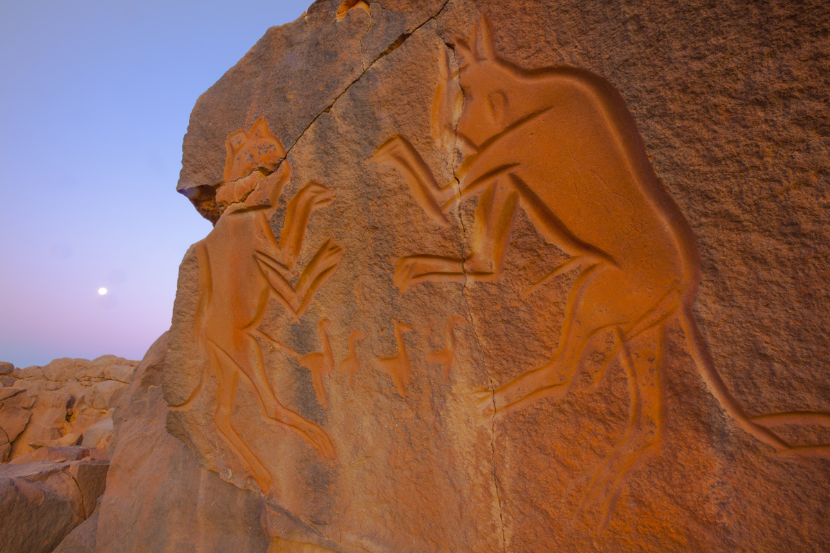 Wadi Methkandoush, LIbya, Sahara Desert photographed by Tom Till