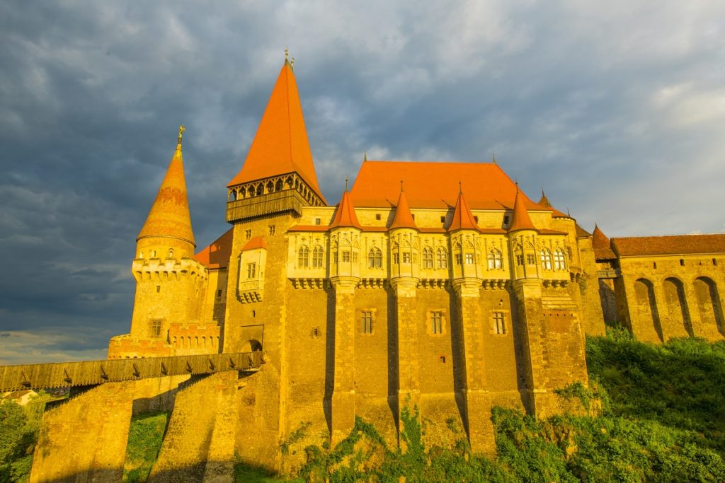 Corvin Castle, Transylvania, Romania, From 1456 into the 17th century Gothic Reniassance , Vlad the Impaler was imprisoned here
