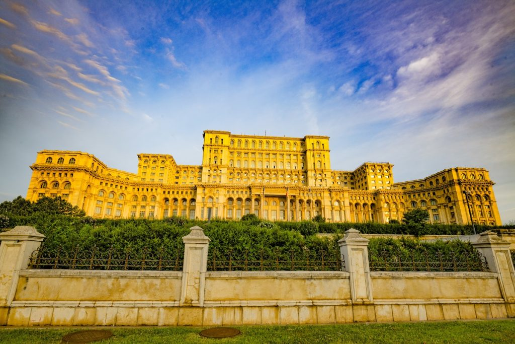 Palace of Parliament, Bucharest, Romania, Second largest government building in the World, Built in 1984 by Ceausescu