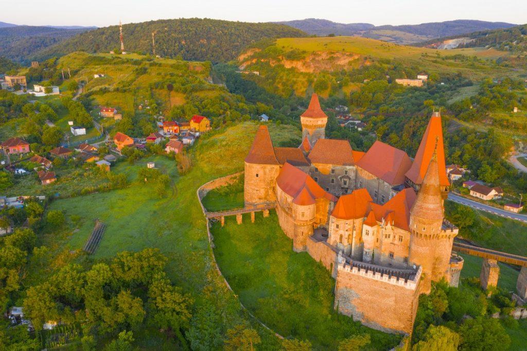 Corvin Castle, Transylvania, Romania, From 1456 nto the 17th century Gothic Reniassance , Vlad the Impaler was imprisoned here